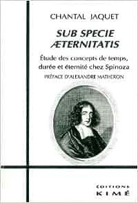 Sub specie aeternitatis: Etude des concepts de temps