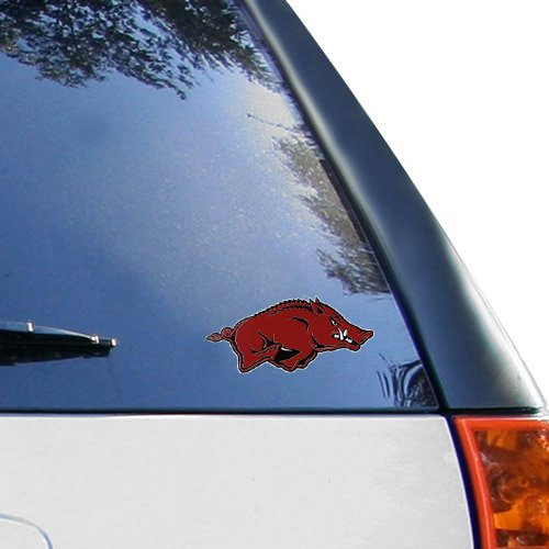 "Arkansas Razorbacks 6.5"" x 3\"" Logo Decal Special Prices Today"