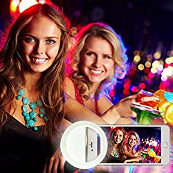 Raphycool 36 LED Selfie Ring Light, Spotlight Video Light for iPhone 6s/6s Plus, Android Smart Phones, iPad and Mac Book (White)