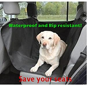 Waterproof Dog Seat Cover for car. Keeps Hair and Dirt Off Doors and Seats. Easy Installation and Cleaning, Heavy Duty Rip Resistant Material for Big and Small Dogs. 100% Money Back Guarantee.