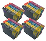4 x Multipack Epson Compatible Ink Cartridges for Epson SX125 - Also compatible with Printers Epson Stylus Office BX305F, BX305FW, BX305FW Plus, Epson Stylus S22, SX125, SX130, SX235W, SX420W, SX425W, SX435W, SX445W - Latest Version Double Capacity Inks