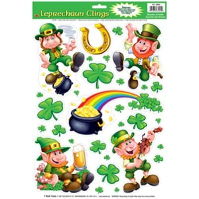 Leprechaun/Shamrock Clings - 1