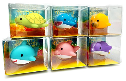 Rittle Sea Animals, Cute Floating Light-up Bath Toys (Set of 6) (Floating Tub Toys compare prices)