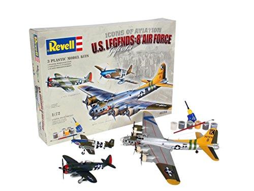 Revell-Modellbausatz-05794-Geschenkset-Flying-Legends-im-Mastab-172