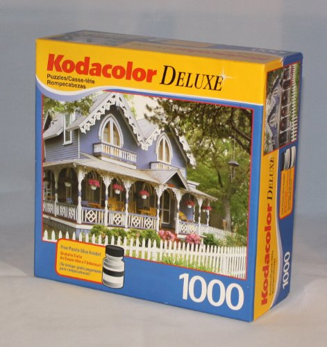 Kodacolor Deluxe 1000 Piece Puzzle - Gingerbread House in Maine - 1