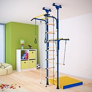 Espaliers pour enfants mur de gymnastique pour chambre enfant couleur bleu - Couleur mur chambre enfant ...