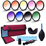 XCSOURCE® 58mm 9pcs Graduated Color Filter Kit Orange Blue Grey Red Green Purple Pink Yellow Brown For Canon EOS 650D 50D 40D 400D 450D Rebel T1i T2i T3i 600D 550D LF498