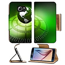 buy Msd Samsung Galaxy S6 Flip Pu Leather Wallet Case Abstract Hi Tech Background With Earth Image 18416148