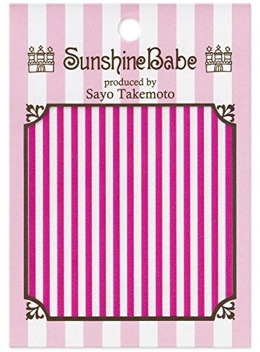 SunshineBabe ネイルシール ストライプ ピンク 2mm