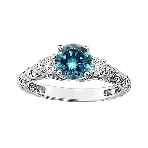 0-74-Carat-Blue-SI1-Round-Diamond-Solitaire-Engagement-Promise-Wedding-Bridal-Women-Ring-14K-White-Gold