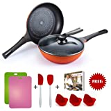 Wonderchef Diamond Pan Set with Free Gifts worth INR 1799, 3-Pieces