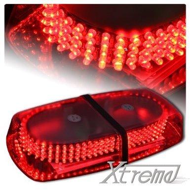 Xtreme® Red 240 Led Law Enforcement Emergency Hazard Warning Led Mini Bar Strobe Light With Magnetic Base
