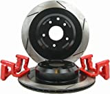 RacingBrake 2002-311-0 Slotted Finish Rear OE Non-Brembo Caliper Big Brake Kit for Nissan 350Z 03-08/Infiniti G35 03-07