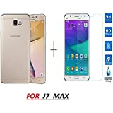 J7 MAX Back Cover / J7MAX BACK COVER ...,,, RIdhaniyaa [COMBO OFFER] FOR (SAMSUNG J7 MAX / J7MAX / J7max [NEW 2017 MODEL) - Premium Soft Sillicone Clear Transparent Back Case Cover + Premium Tempered Glass Screen Protector.
