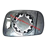 Suzuki Wagon R 2000,2001,2002,2003,2004,2005,2006,2007,2008 Non Heated, Silver Wing / Door Mirror Glass Including Base Plate LH(Passenger Side)