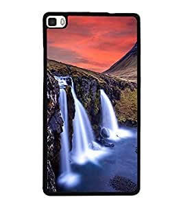 printtech Nature Waterfall View Back Case Cover for Huawei Honor P8