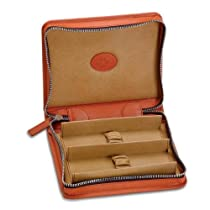Zippered Leather Double Watch Case by Underwood