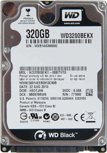 WD (WD3200BEKX) 320GB Laptop Internal Hard Disk