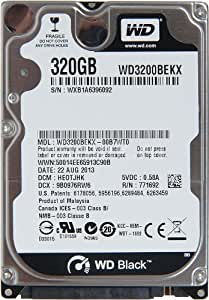 "WD Black 2.5"" Disque dur interne 320 Go 7200 RPM 16 Mo  (WD3200BEKX - bulk)"