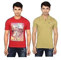 Strak Cotton Men's Casual T-Shirt (STR2039_M)