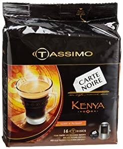 Carte Noire Kenya, T-Discs for Tassimo Coffeemakers, 16-Count Packages (Pack of 2)
