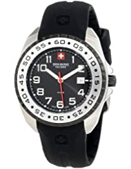 Swiss Military Calibre Women's 06-6S1-04-007 Sealander Black Rotating Stainless Steel Bezel Rubber Watch