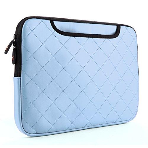 Sumaclife Gummy Quilted Leather Sleeve For Acer Aspire V3 / V5 / V7 Series 15.6-Inch Laptops (Sky Blue)