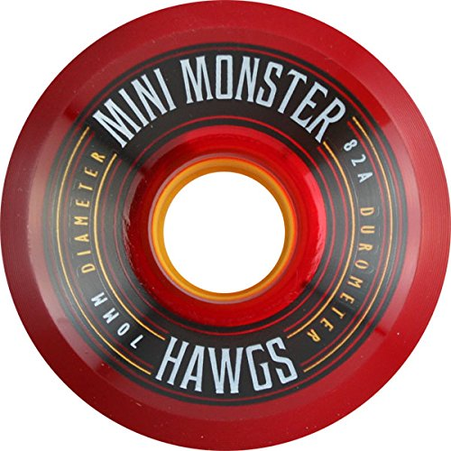 Hawgs Mini Monster 82a 70mm Red Skateboard Wheels (Set Of 4) (Hawgs Mini Monster compare prices)