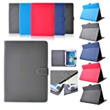 EARLYBIRD SAVINGS Black PU Leather Case Cover Protector Stand For 9.7' Apple iPad 2 3 4 and 10.1' Tablet like Samsung Galaxy Note N8000, Tab2 P5100