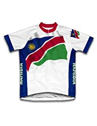 Namibia Flag Short Sleeve Cycling Jersey for Women