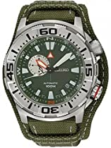 Seiko Superior Automatic Army Green Dial Green Canvas Mens Watch SSA055