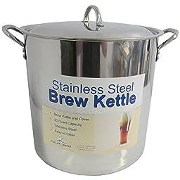 30 Qt Stainless Steel Brew Kettle w/ Lid by Polarware Brewkettle
