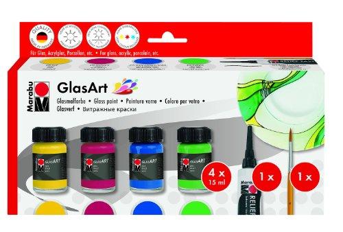 marabu-glas-art-assortimento-rosso-carminio-verde-chiaro-giallo-oltremare-scuro-nero-sollievo-pasta-