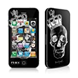 Apple iPhone 4用スキンシール【Skull King Black】