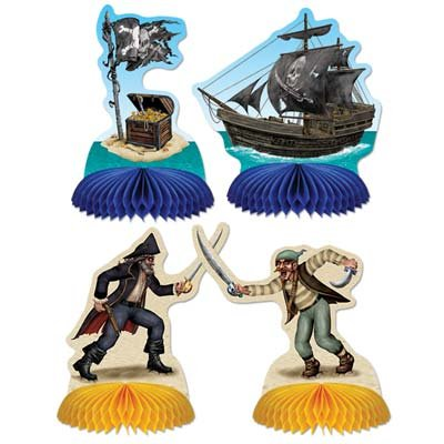 8 Pirate Playmates/PIRATE PARTY Table Decorations and Party Supplies