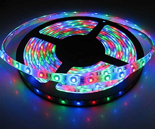 A To Z Traders® – 5M Multicolor Colorful LED Strip Light with Adapter & Pin Top (Complete Set) and 1 Free Hand Shape LED Keychain