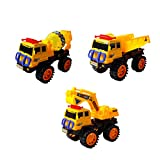 (アルジーユ)ALZEU ショベルカー ミキサー車 ダンプカー 箱入り 砂場 車 おもちゃ 子供用 遊び 工事 車両 働く車 シリーズ (ダンプカー 小型)