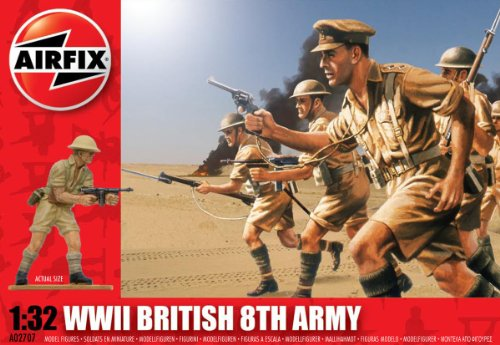 Airfix A02707 1:32 Scale British 8th Army Figures Classic Kit Series 2