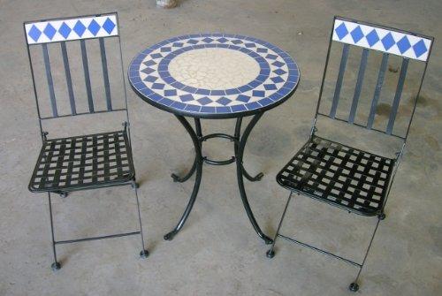 gartenm bel preisvergleich mosaikm belset mosaik bistro set roma 1 tisch 2 st hle gartenm bel. Black Bedroom Furniture Sets. Home Design Ideas