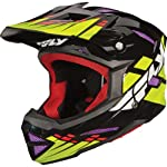 Fly Racing Default Adult Full Face Bike Race BMX Helmet - Black/Lime/Purple / Large