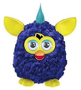 Furby mohicano azul marino - Mascota electrónica (habla español) (Hasbro A3123500)