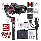 Zhiyun Crane V2 3 Axis Brushless Handheld Gimbal Stabilizer 3 32Bit MCUs Brushless Motors With Encoders for Mirrorless Camera Sony A7,Panasonic LUMIX,Nikon J Series Canon M Series