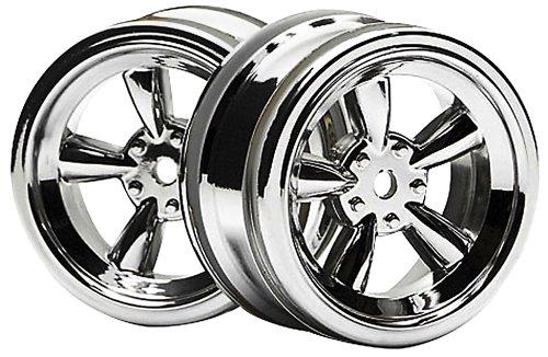 HPI Racing 3817 Vintage 5 Spoke Wheel, 26mm/0mm Offset, Shiny Chrome - 1