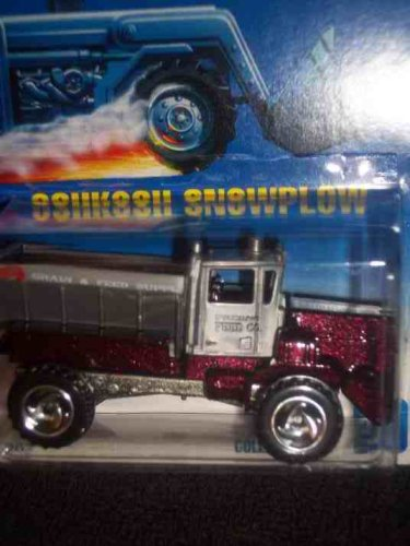 #201 Oshkosh Snowplow Shadow Tampo Collectible Collector Car Mattel Hot Wheels