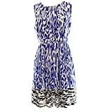 Ellen Tracy White Women's Petite Printed Sheath Dress