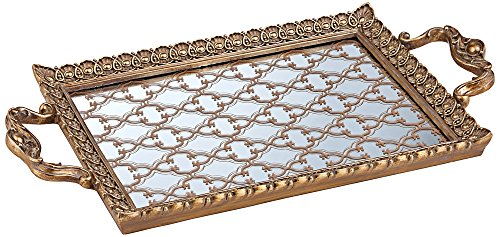 Celina Tile Design Gold Rectangular Tray