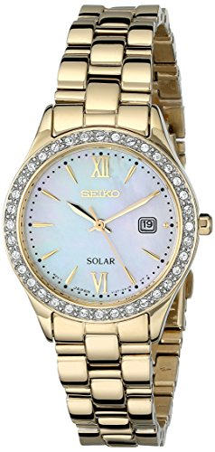 Seiko Women's SUT076 Solar-Power Gold-Tone Stainless Steel Watch