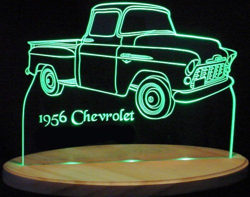 1956 Chevrolet Pickup Truck Acrylic Lighted Edge Lit Led Sign / Light Up Plaque 56 Chevy