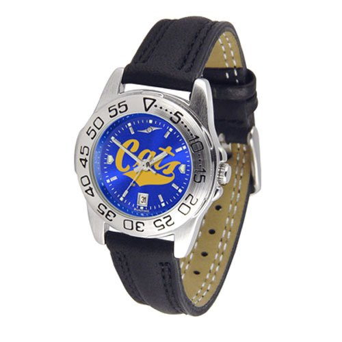 Suntime Montana State Bobcats Ncaa Anochrome Sport Ladies Watch Leather Band