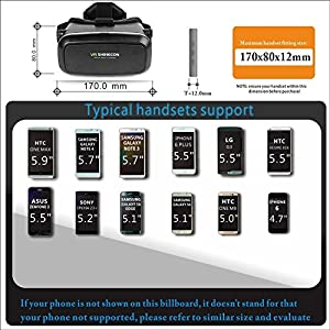 VR Headset Glasses Virtual Reality Mobile Phone 3D Movies